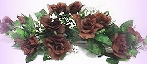New Chocolate Brown Swag Silk Roses Centerpiece Decorating Flowers Arch Gazebo Pew - Perfect for Any Wedding, Special Occasion or Home Office D?cor