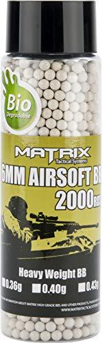 (Evike Matrix Match Grade Biodegradable 6mm High Performance BBS - 2000 Rounds (Weight: .40g / Bio))