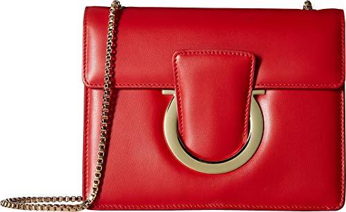 Salvatore Ferragamo Women's Thalia Small Shoulder Bag, Lipstick, One ()