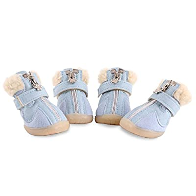 HaveGet Small Puppy Dog Shoes for Winter Snow Boots Pet Antiskid Shoes Winter Warm Skidproof Sneakers Paw Protectors from HaveGet