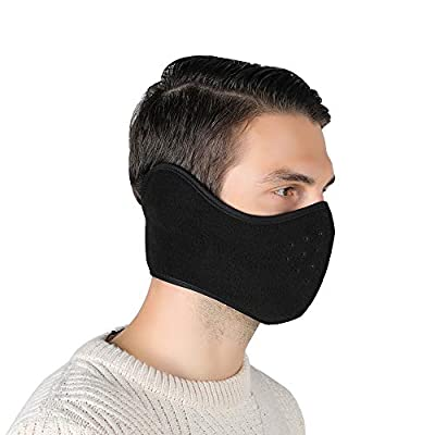 Unisex Winter Ski Mask Outdoor Protect Face Cover Earmuffs Balaclava Cycling Bicycle Motorcycle Mask (Black): Automotive