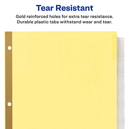 avery 8 tab binder dividers insertable clear big tabs 1 set 11112