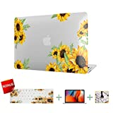 Laptop Case,Plastic MacBook Case,Sunflower Hard Shell Cover, Keyboard Cover, Screen Protector for MacBook Pro 15 Inch Case 2018 2017 2016 Release A1990/A1707 Touch Bar Models