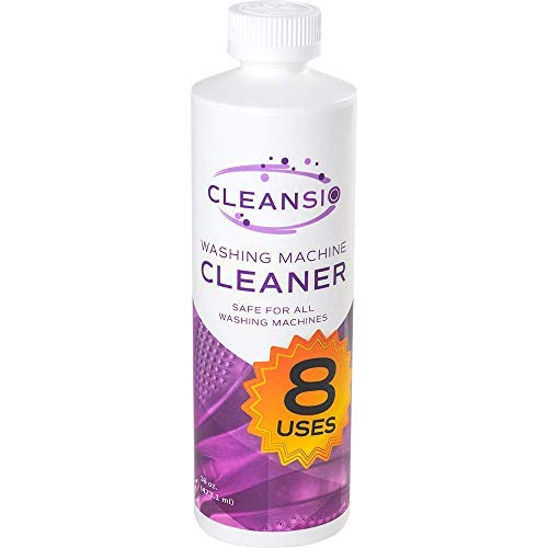 Cleansio Washing Machine Cleaner - Residue Destroyer and Odor Eliminator, 8 Uses per Bottle,16oz