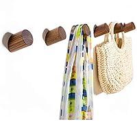 Wall Hooks Felidio Natural Wood Coat Hooks Wall Mounted (Pack of 2pcs) - Rustic Wall Coat Rack Hat Hooks Robe Hook Entryway Wall Hangers Heavy Duty Hooks for Hanging Towels