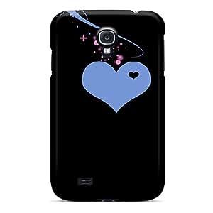 High Grade NikRun Flexible PC Case For Galaxy S4 - Blue Heart