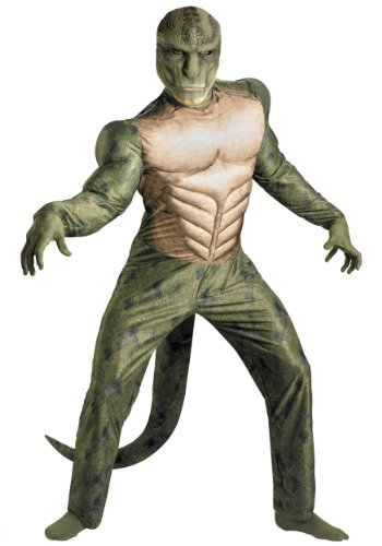 Disguise Mens Amazing Spiderman Movie Lizard Classic Muscle Chest Costume, Plus (50-52)