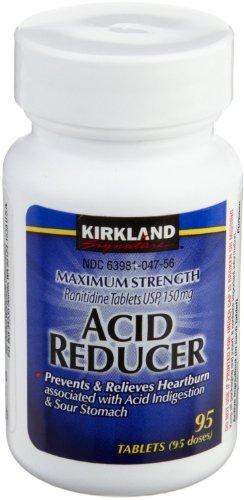 Kirkland Signature Maximum Strength Acid reducer Ranitidine tablets USP 150MG (190 Count) FLLfll Acid Reducer 150 Mg Tablets