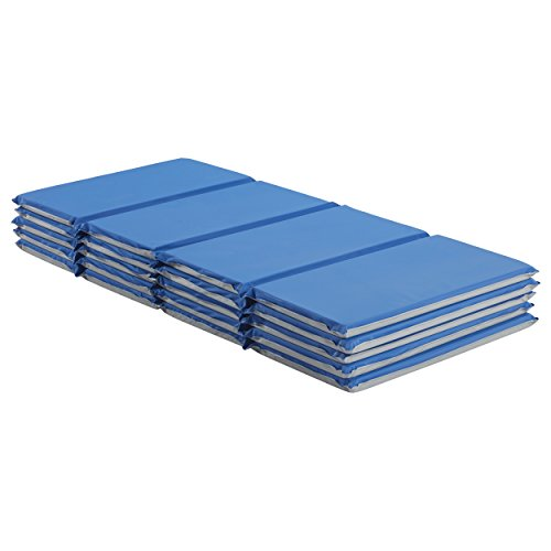 Rest Day Mats Care (ECR4Kids Value 4-Fold Daycare Rest Mat, Blue and Grey (1