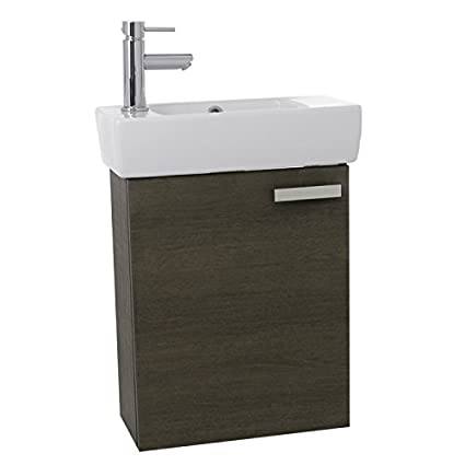 Beau ACF C135 Cubical Space Saving Bathroom Vanity With Ceramic Sink Wall  Mounted, 19u0026quot;,