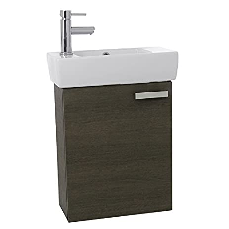 ACF C135 Cubical Space Saving Bathroom Vanity With Ceramic Sink Wall  Mounted, 19u0026quot;,