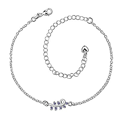 New Women Diamond Flower Ankle Bracelet Silver Plated Jewelry Barefoot Sandal Beach Foot Chain supplier