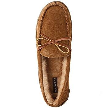 Rockport Men's Memory Foam Plush Suede Slip On Indooroutdoor Moccasin Slipper Shoe 1