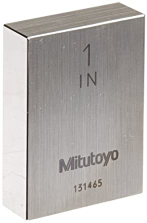 Mitutoyo Steel Rectangular Gage Block, ASME Grade AS-1, Inch