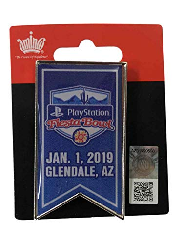 aminco 2019 College Football Playoffs Playstation Fiesta Bowl Game Banner Lapel Pin