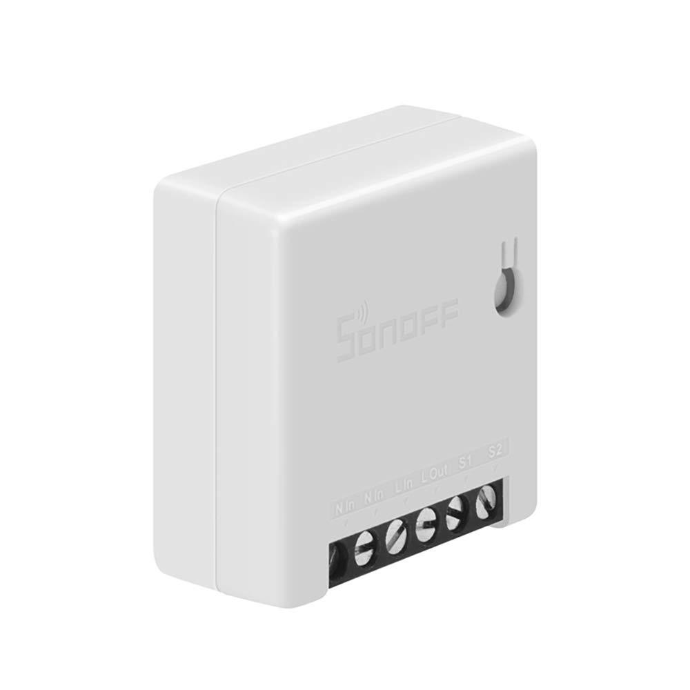 1.67 * 1.67 inch WiFi Switch Compatible con Alexa Google Home IFTTT Soporta Control Remoto de App Konesky Mini Interruptor wifi Inteligente interruptor de Dos V/ías Control de Voz