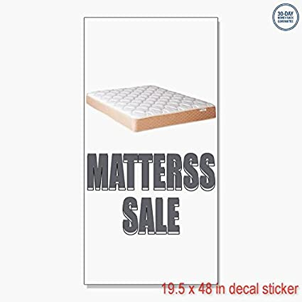 500248e6fd0 Amazon.com  Mattress Sale Advertisement Vinyl Decal Label Sticker ...