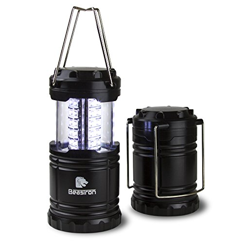 BEASTRON CL-10 Portable Outdoor LED Lantern 2 Pack/Collapsible Design/Perfect for Camping, Daily Use, Emergencies, Hurricanes/3x AAA Batteries Included