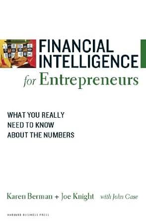Financial Intelligence For Entrepreneurs Ebook