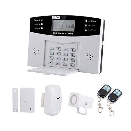 SmoTak 107 Zones Wireless Invoice GSM Home Security Alarm Burglar System for Fire, Gas Leak, Door Lock, Living Room, Window, Balcony,and Perimeter Burglar