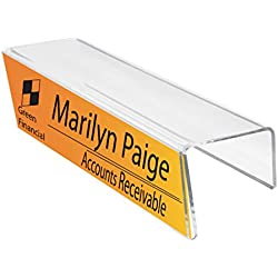 """Plastic Products Mfg Single-Sided Cubicle Name Plate Holder 8-1/2"""" Wide x 2-1/2"""" high x 2-1/4"""" deep - PNH085025022 (40 Pack)"""