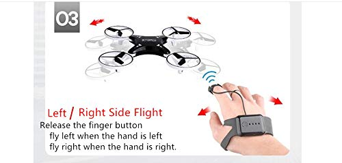 IvyLisprost Observation of Sensitive Intelligent Children's Toys by Four Helicopter Intelligent Suspension Induction Aircraft UAVs with Light Gesture Remote Control-White by IvyLisprost (Image #4)