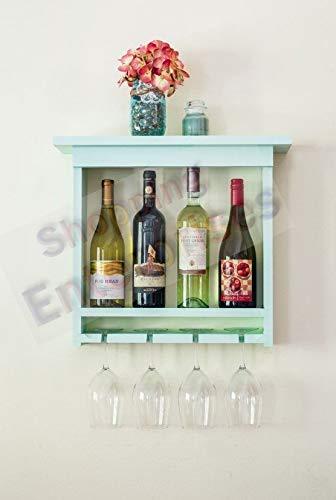 Shopping Enterprises Wooden Mdf Bottel Wine Glass Holder Stand