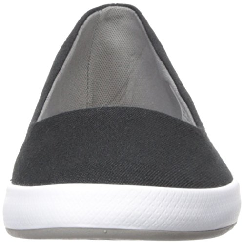 Lacoste Women's Lancelle Ballerina 317 1 Fashion Shoe Ballet Flat, Black/Grey, 8 M US