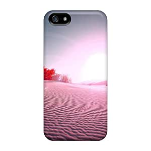 Durable Defender Cases For Iphone 5/5s Covers(colorful Desert Sun)