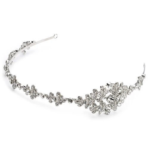USABride Floral Art-Deco Inspired Rhinestone Wedding Bridal Side Headband 3168