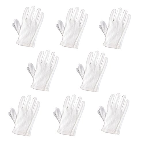 Tinksky Lightweight Soft Protective Working Glove - 8 pairsset (White) ()