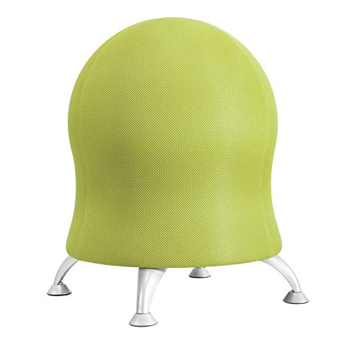Safco Products Zenergy Ball Chair, Grass, Low Profile, Active Seating