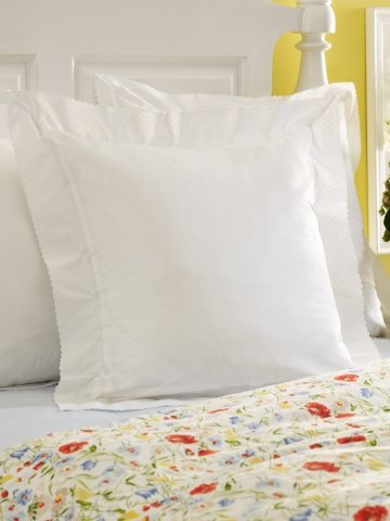 Lauren by Ralph Lauren Georgica Garden White Embroidered Standard Pillow Sham