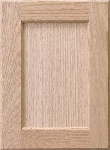 Cabinet Doors 'N' More 16' W x 22' H x 3/4' Replacement Unfinished Red Oak Recess Panel Cabinet Door for 18' and 36' Wide Framed Kitchen Base Cabinet
