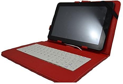 """Funda con teclado para Tablet HP Slate 3500 10.1"""" - ROJO (teclado ..."""