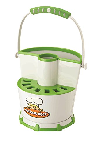 Real Kitchen Tools and Cookbook for Kids - Curious Chef Tool Caddy