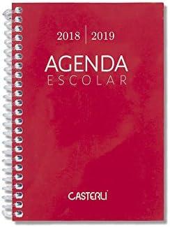 Casterli Iberia - Agenda Escolar 2018/19, día página, tamaño A6 (Rojo)