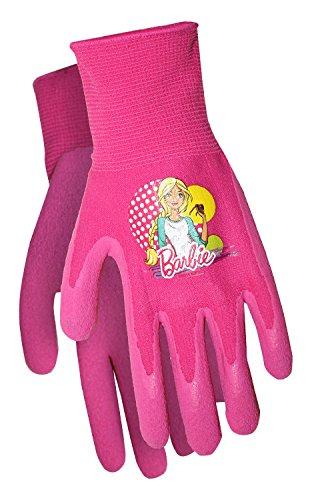 Midwest Quality Gloves Mattel Barbie Kids Garden Gripper Glove, BA100T, Toddler, Pink/Multi