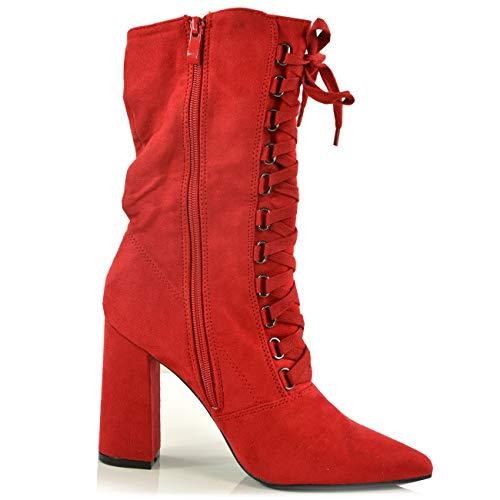 Cucu Red Fashion Femme Bottines Classiques px0pq1wU6