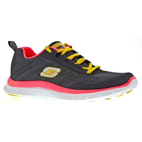 Skechers - Zapatillas deportivas modelo SK11729 Flex Appeal para mujer Carbón/ rosa