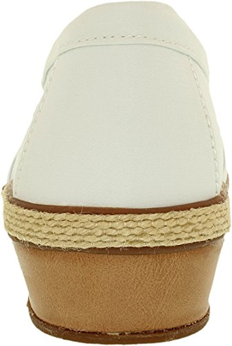 Grasshoppers Women's White Misty Ankle High Flat Synthetic Cotton Shoe 4gBxdwqg