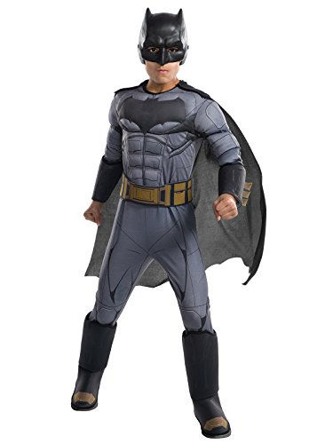 Rubie's Costume Boys Justice League Deluxe Batman Costume, Medium, Multicolor -