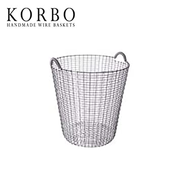 かご■ 送料無料■ あす楽 カゴ ステンレス 【KORBO クラシック80 KB-004】 バスケット スウェーデン