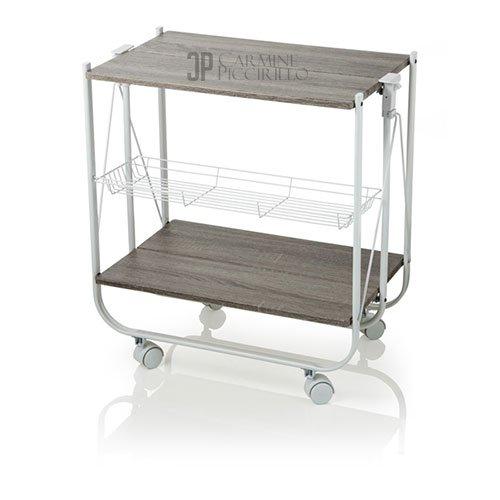 Brandani wengé pieghevole trolley pannello MDF/metallo, multicolore, taglia unica Brandani Gift Group S.a.s Brandani_54117