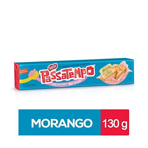 Passatempo Recheado sabor Morango 130 gr. - 2 Pack/Strawberry Filled Cookie 4.58 oz. - 2 Pack. (Brazilian Cookies)