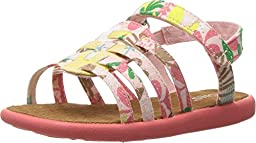 Toms Girls 10010031 HUARACHE Sandal, Pink, 2 M US Toddler