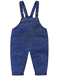 LittleSring Little Boys Overalls Cute Cozy Casual