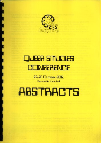 Queer Studies Conference, 29-30 October 2002, Newcastle Town Hall: Abstracts