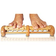 TheraFlow Deep Tissue Acupressure Foot & Heel Massager Roller (Dual Foot) - Reflexology Tool For Myofascial Release & Trigger Point Acupressure