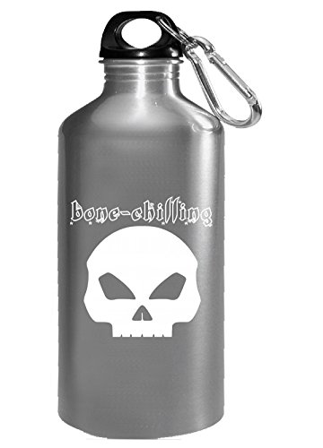 Bone-chilling Halloween Front Facing Skull White - Water Bottle